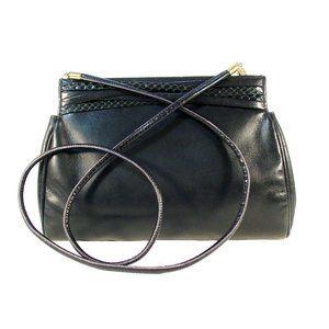 FERRAGAMO 60's Python/Glove Clutch Crossbody Bag